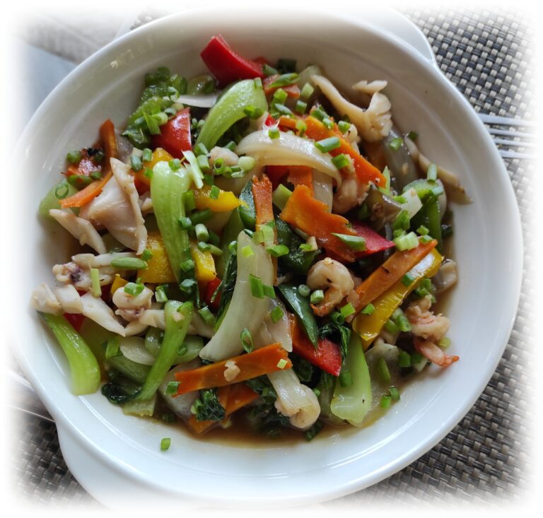 Stir Fried Vegetables with seafood